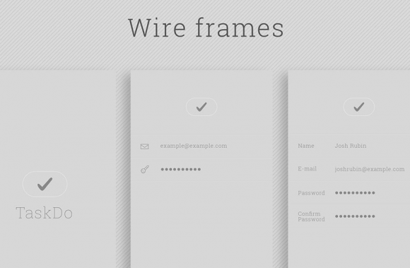 Task ToDo Wireframes